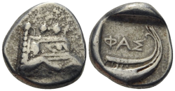 LYKIEN. PHASELIS  1/3 Stater Ag ss+ , 3.42gr.