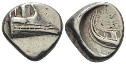 LYKIEN. PHASELIS  1/3 Stater Ag ss+ , 3.44gr.