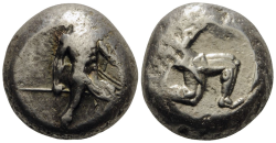 PAMPHYLIEN. ASPENDOS  Stater Ag ss , 10.65gr.